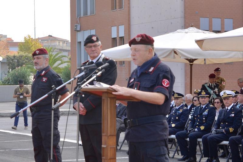 da sin. il colonnello Jannece e i generali Mezzavilla e Comitini