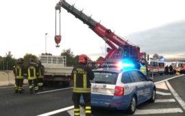 La scena del tragico e assurdo incidente a Peretola in A11