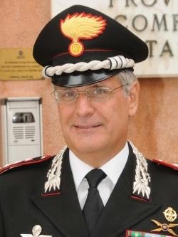 Il generale Masciulli, qui con i gradi di colonnello durante il comando provinciale di Venezia