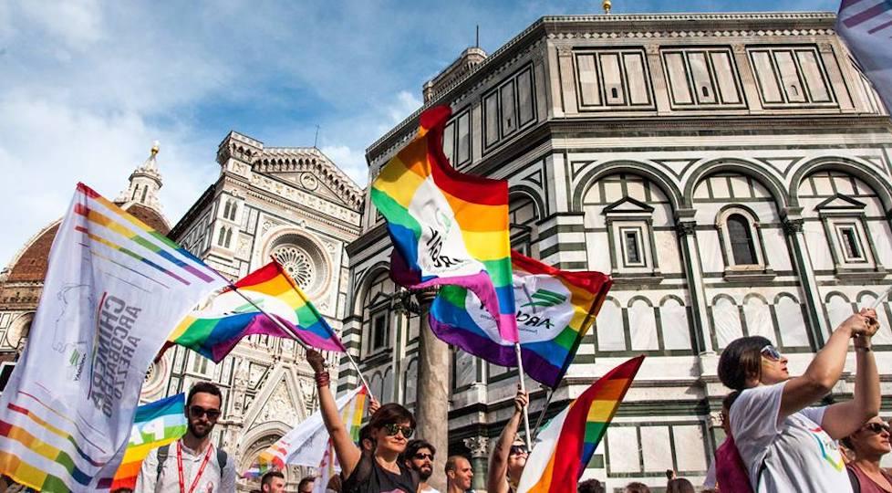 Un momento del Toscana Pride a Firenze nel 2016