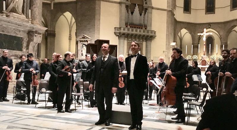 Michele Manganelli e Olivier Latry al termine del concerto