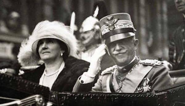Vittorio Emanuele III, terzo re d'Italia e la regina Elena del Montenegro