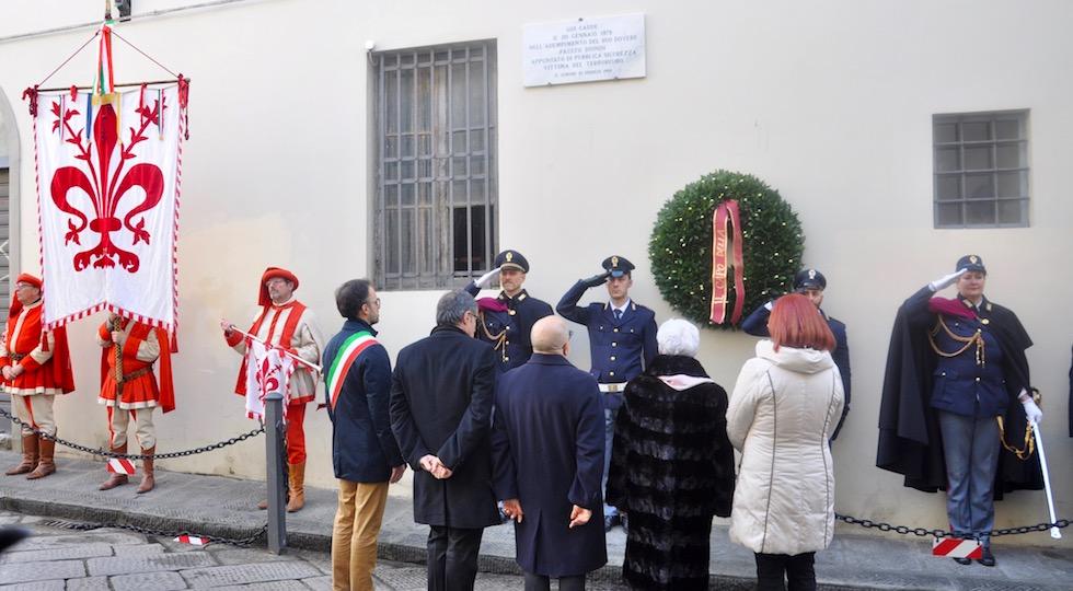 La commemorazione del 40° anniversario dell'uccisione del poliziotto Fausto Dionisi