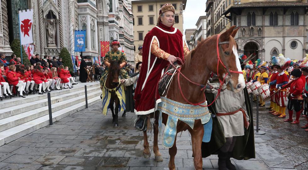 Un'immagine della cavalcata dei Magi a Firenze (foto concessa da Opera del Duomo / Claudio Giovannini)