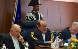 Il presidente Ignazio Del Castillo (al centro) durante l'inaugurazione dell'anno giudiziario contabile 2016 a Firenze