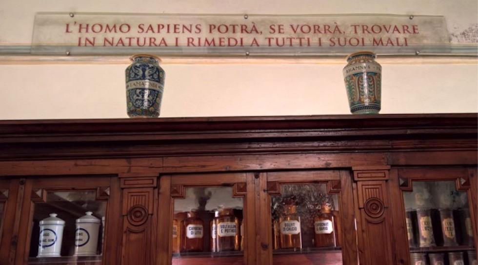 Un particolare del Museo Aboca a Sansepolcro