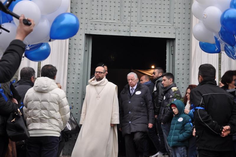 Padre Bernardo e Cosimo Ceccuti all'uscita da San Miniato al Monte