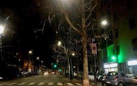 Il nuovo modello di illuminazione a led già installata in viale Calatafimi