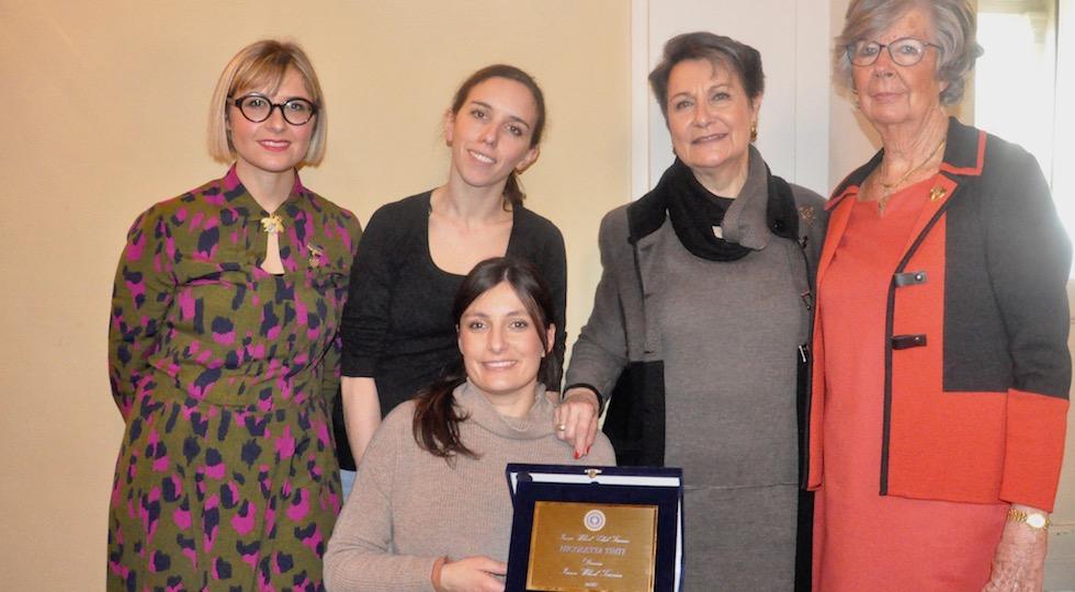 da sin. Elisa Bonifazi Failli, Silvia Bertoluzza, Nicoletta Tinti, Laura Boncompagni Lodovisi, Elisabeth Bucher Paoletti