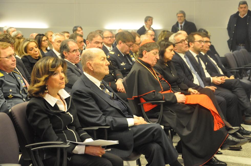 Il presidente della Corte Costituzionale Paolo Grossi e il cardinale Giuseppe Betori