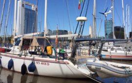 La barca Crilù nel porto di Buenos Aires nel novembre 2017