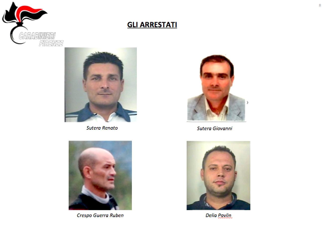 Gli arrestati dai Carabinieri