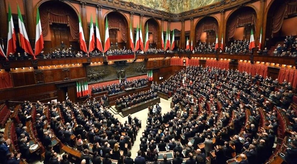Un'immagine di Deputati e Senatori riuniti per l'elezione del Presidente della Repubblica