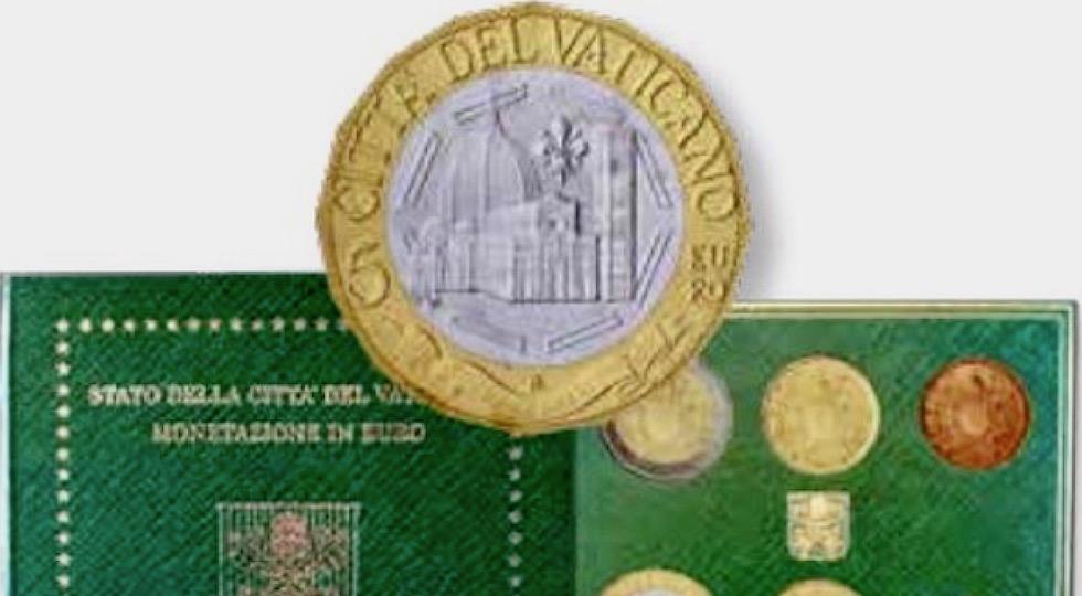 La nuova moneta da 5 euro con l'immagine del Duomo di Firenze