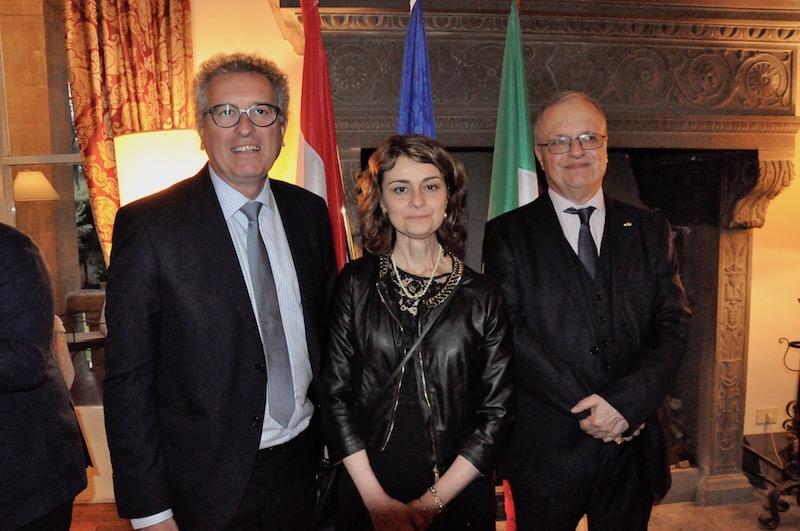 Pierre Gramegna, Francesca Basanieri sindaco di Cortona, Stefano Cacciaguerra Ranghieri