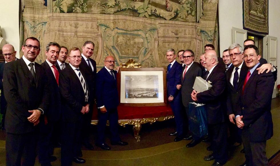 Il saluto al prefetto Giuffrida il 26 aprile a Palazzo Medici Riccardi