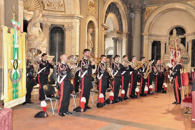 La fanfara della Scuola Marescialli Carabinieri