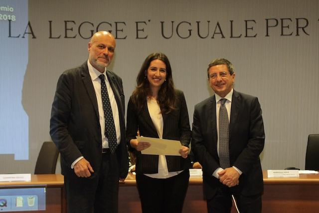Clementina Colucci tra il Procuratore Generale Marcello Viola (a sin.) e il Procuratore capo Giuseppe Creazzo