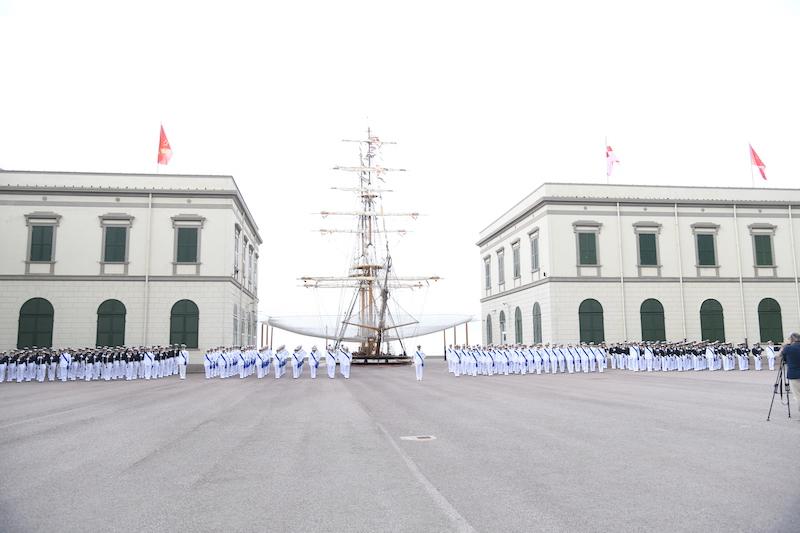 Il piazzale Allievi dell'Accademia Navale