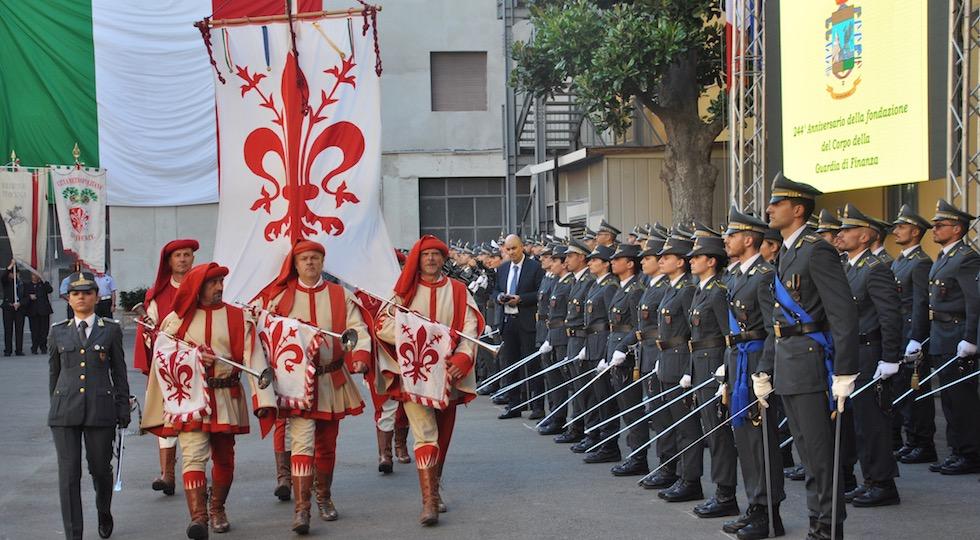 Il gonfalone di Firenze alla Festa della Finanza 2018