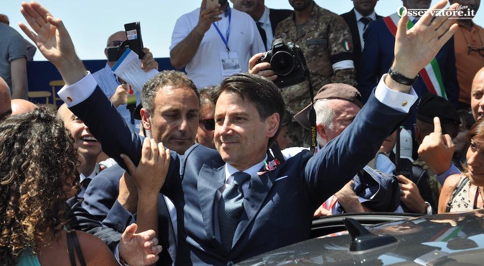 Il premier Giuseppe Conte al termine della Festa della Repubblica 2018