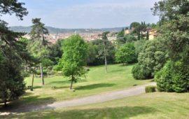 Panorama di Firenze dal parco di Villa il Ventaglio riaperto al pubblico