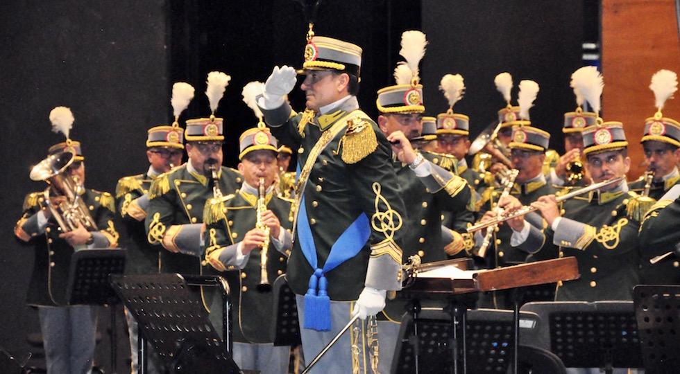 La Banda Musicale della Guardia di Finanza durante un concerto a Firenze nel 2017