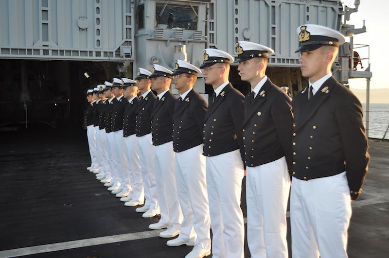 Allievi dell'Accademia Navale sul Durand de la Penne