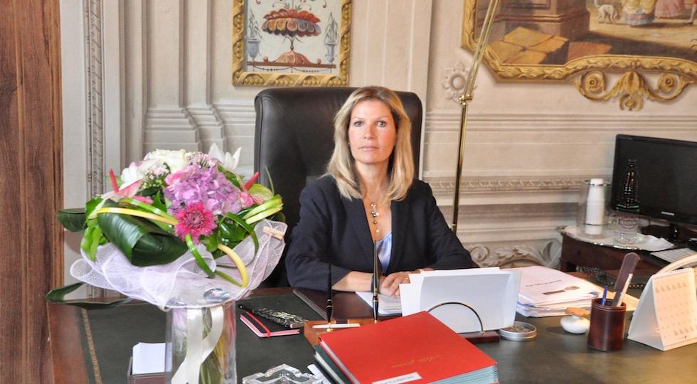 Laura Lega nel suo ufficio a Palazzo Medici Riccardi