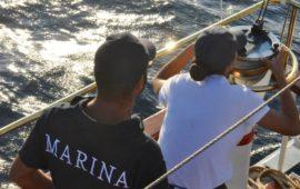 Addestramento in navigazione su Nave Palinuro