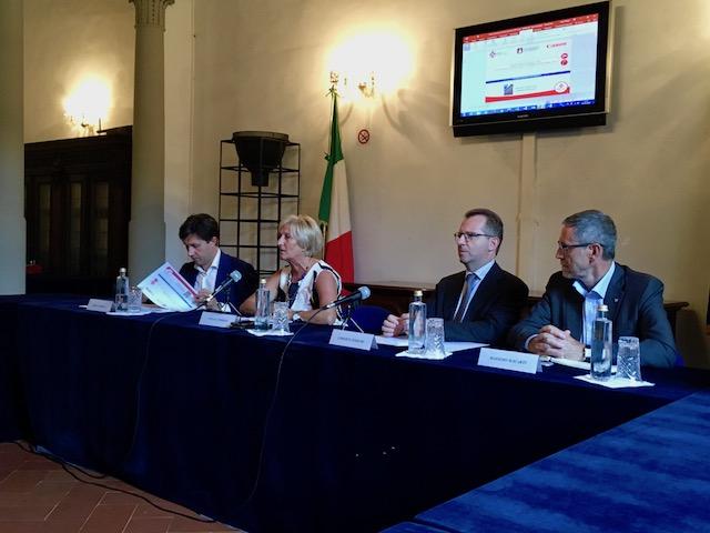 da sin. Dario Nardella, Tiziana Tombesi, Umberto Tombari, Massimo Macarti