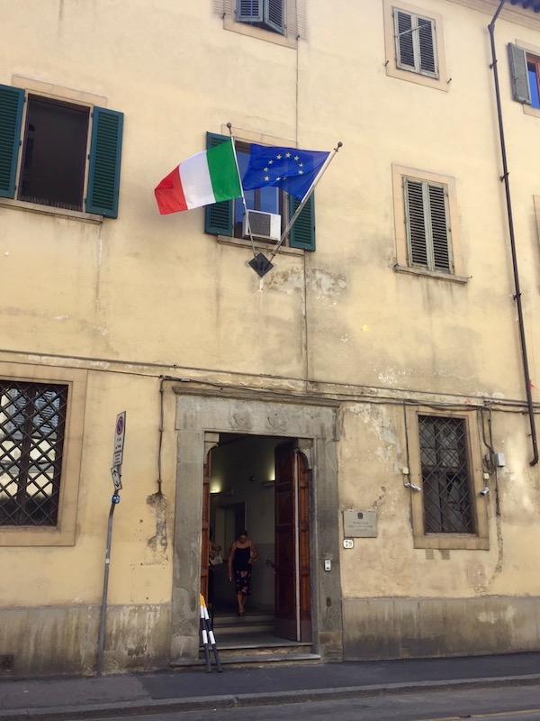 La facciata del Tribunale dei Minorenni fiorentino