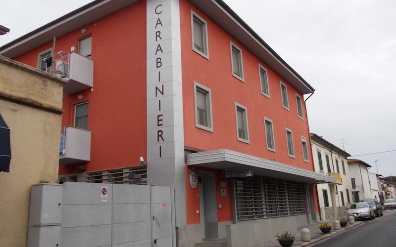 La caserma dei Carabinieri a Sesto Fiorentino