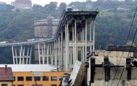 Il ponte Morandi sull'A10 a Genova crollato il 14 agosto