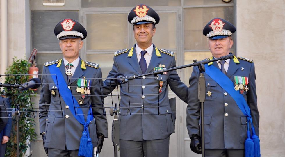 da sin. i generali Bruno Bartoloni, Edoardo Valente, Michele Carbone