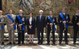 Il presidente Mattarella e il ministro Trenta con gli i nuovi insigniti Omi 2018