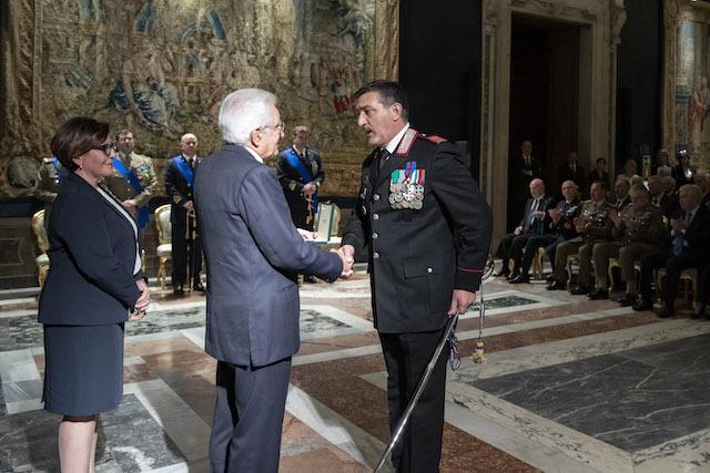 Luogotenente C.S. Giuseppe Rizzello (Foto Uff Stampa Quirinale)
