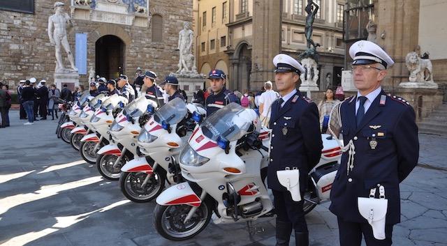 Motociclisti della Polizia Municipale di Firenze alla festa 2018