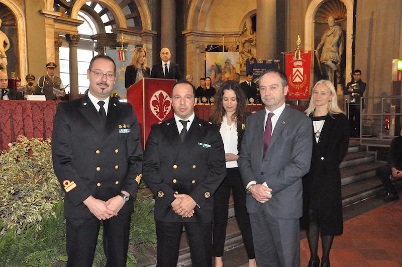 1° maresciallo Guido Marzano (al centro)