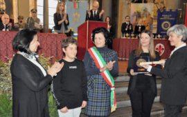 Samuele Morato, 13 anni, premiato a Firenze con lo Scudo di San Martino