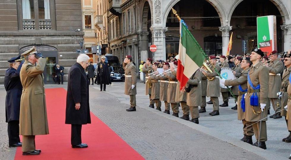 Il presidente Mattarella a Reggio Emilia nel 220° anniversario dela Bandiera Tricolore