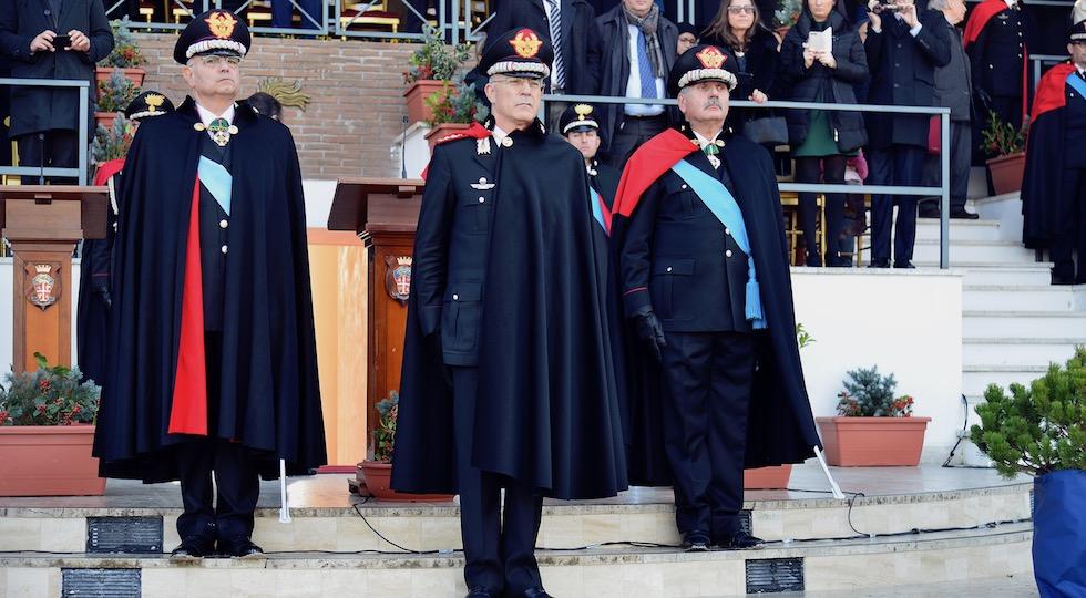 da sin. i generali Antonio Ricciardi, Giovanni Nistri e Angelo Agovino