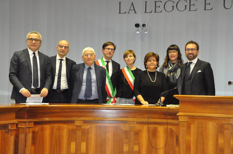 I firmatari del protocollo per gli Uffici di prossimità a Firenze ed Empoli