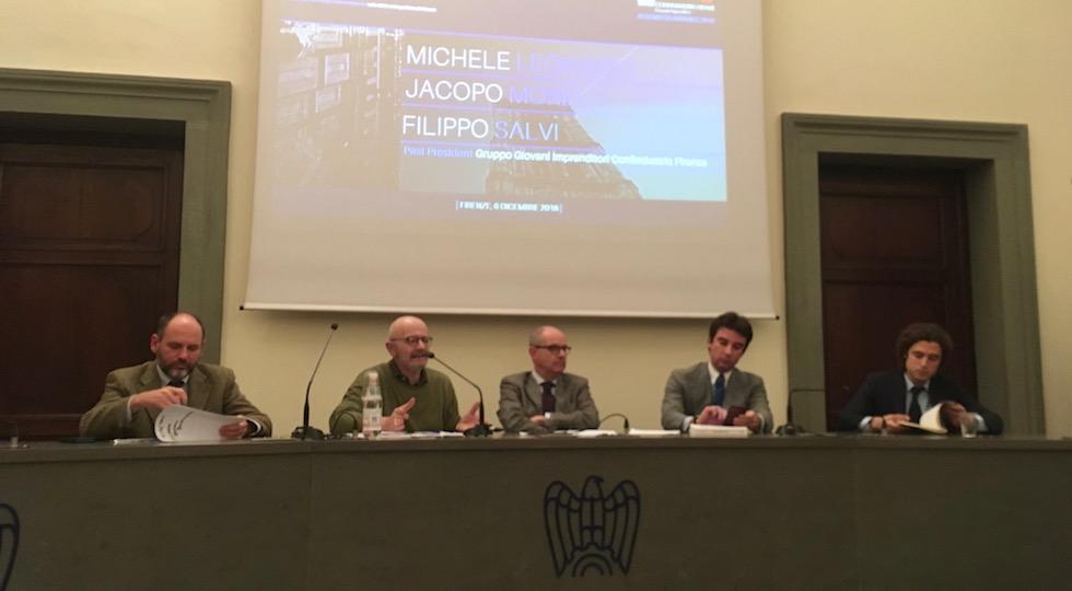 Un'immagine dell'assemblea dei Giovani Imprenditori di Confindustria Firenze