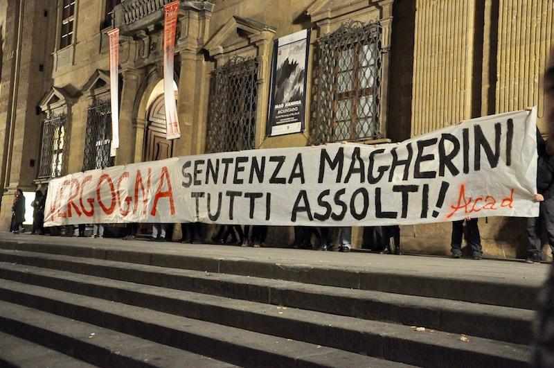 Una manifestazione a Firenze contro la sentenza della Cassazione sul caso Magherini
