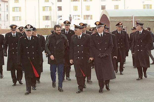 Il sottosegretario Tofalo alla caserma Baldissera di Firenze, sede della Legione e del VI Battaglione Carabinieri Toscana