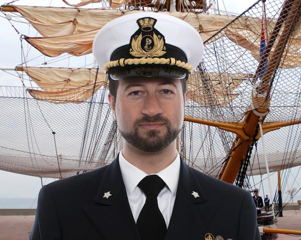 Capitano di corvetta Rino Gentile comandante alla 1ª classe anno 2018-2019