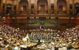 Aula di Montecitorio al completo al concerto della Polizia per la festa della Bandiera