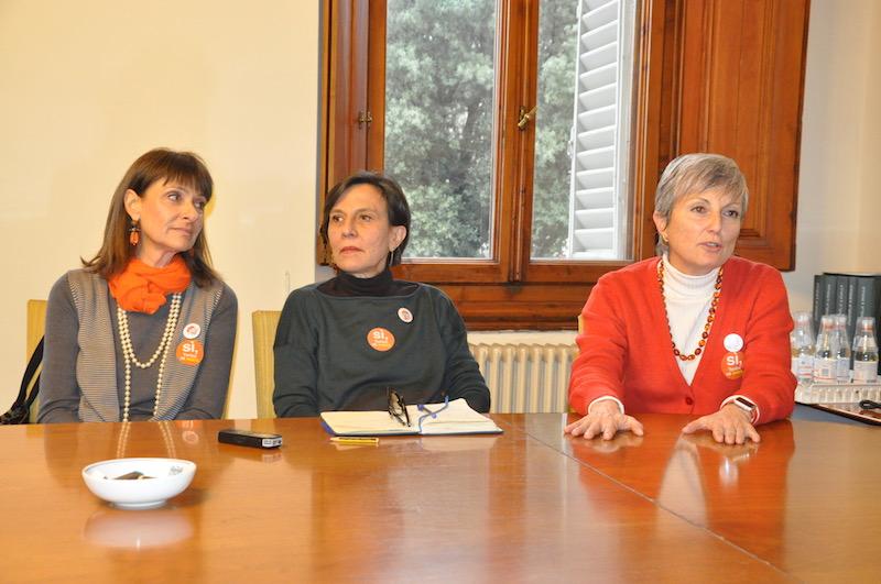 da sin. Roberta Castellina, Simonetta Carbone, Giovanna Giordano