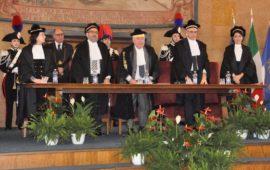 Il presidente Amedeo Federici dichiara aperto l'anno giudiziario 2019 della Corte dei Conti della Toscana